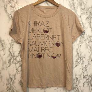 Tops - J Crew Shiraz Tee Red Wine Theme